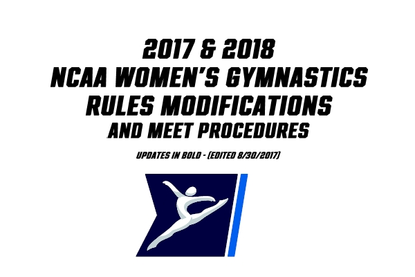 NCAA Release 2018 Code Modifications