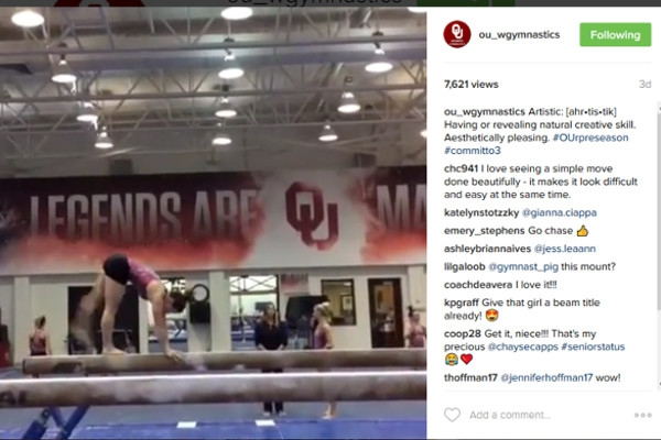 OU's Instagram is Regularly Updated with Videos