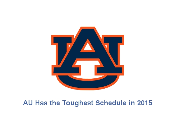 Auburn has the Toughest Schedule in 2015