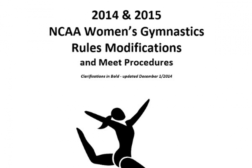 The 2014-2015 NCAA Code Modifications
